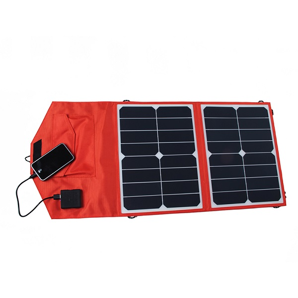 FR6-03-012 23% sunpower  solar folding Charging bag  30W