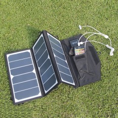 FR6-03-011 23% PV sunpower  solar folding Charging bag  19.5W